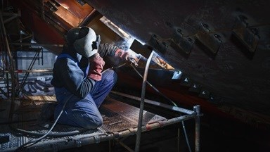 Welding jobs on 'MSC Magnifica' done at Damen Shiprepair Rotterdam.