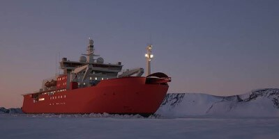 antarctic supply research vessel