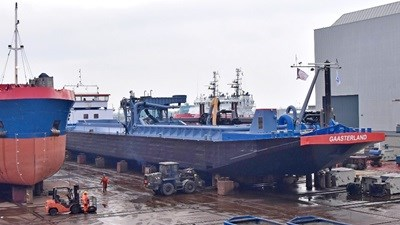 Inland ship repair at Damen Shiprepair yard