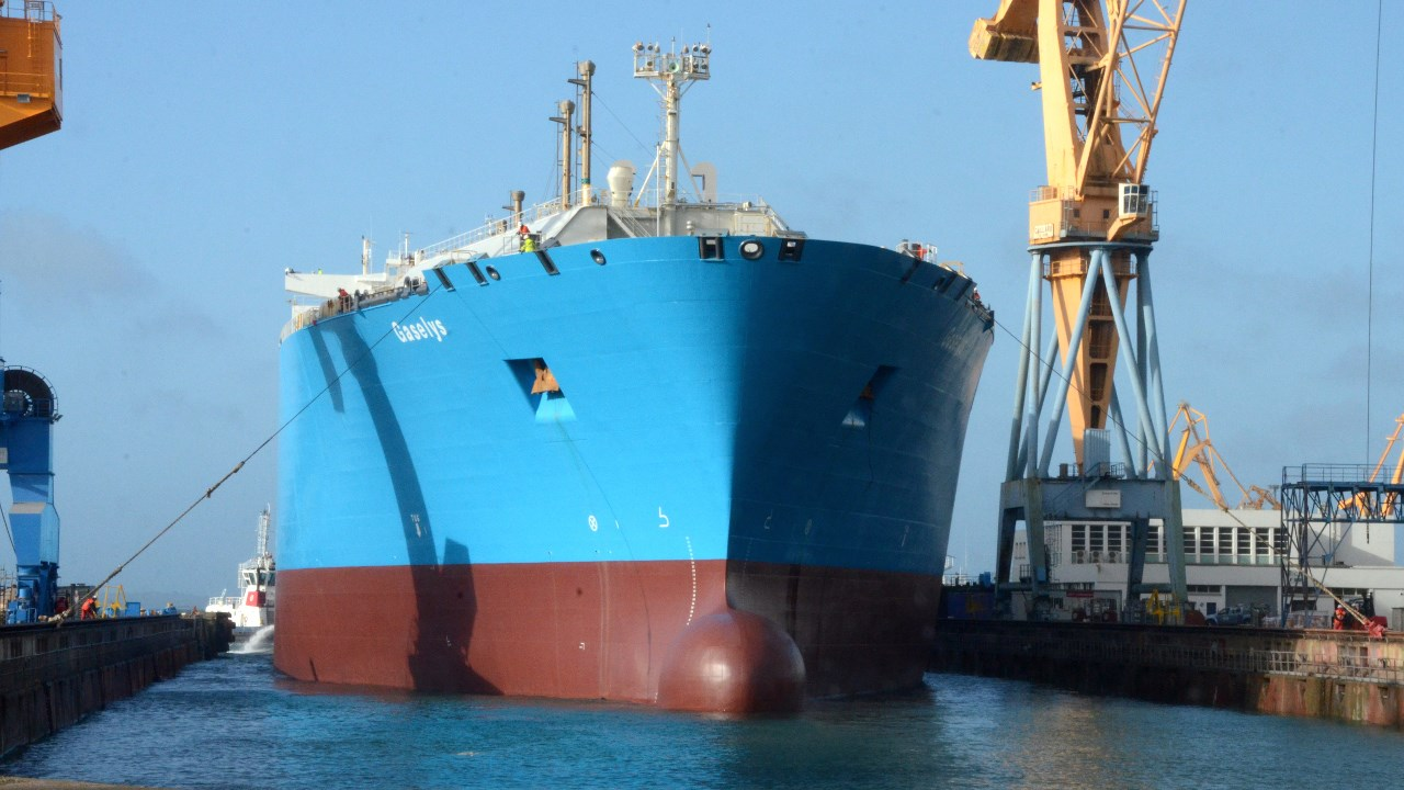 Damen Shiprepair Brest completes maintenance on LNG carrier 'Gaselys'.