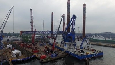'Sea Installer' crane upgrade at Damen Shiprepair Amsterdam