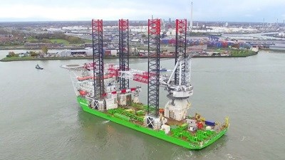 Upgrade of jack-up vessel 'Innovation' at Damen Shiprepair Rotterdam