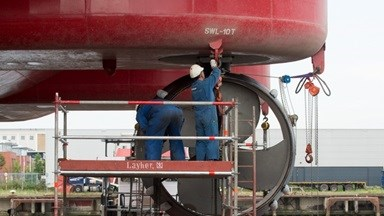 The Seajacks Hydra was commissioned within 10 days at Damen Shiprepair Rotterdam