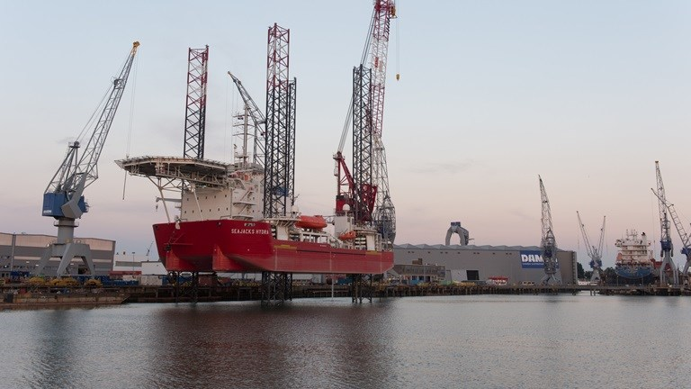 Seajacks Hydra commissioned in under 10 days