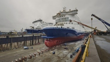 Damen Shiprepair Dunkerque carries out major refit and rebranding project for DFDS Seaways.