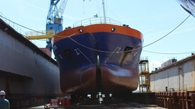 Repair works at Damen Shiprepair Vlissingen