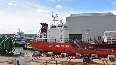 Damen Shiprepair Harlingen has repaired not gas free LNG carrier