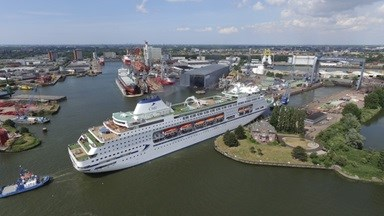 Damen Shiprepair Rotterdam (DSR) has completed maintenance and repair works on the cruise ship Columbus.