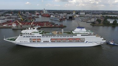 The newest member of CMV's fleet, the cruise ship Columbus.