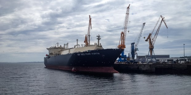 LNG carrier 'GDF Suez Point Fortin' at DSBr.