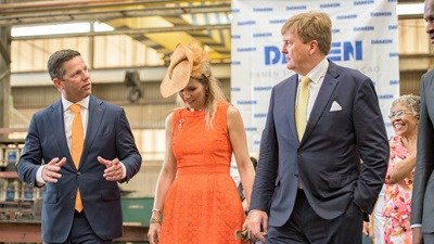 Royal visit to Damen Shiprepair Curacao