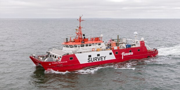 The 42.35-metre survey vessel 'Fugro Mercator'