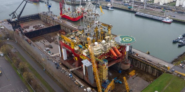 The most significant aspect of the works was the installation of an eight-point mooring system for 'Stena Don' future drilling contracts