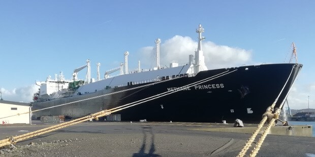 Visit by the 'LNG Methane Princess' to DSBr