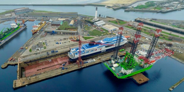 Heavy lift jack-up 'Apollo' refit at Damen Shiprepair Dunkerque