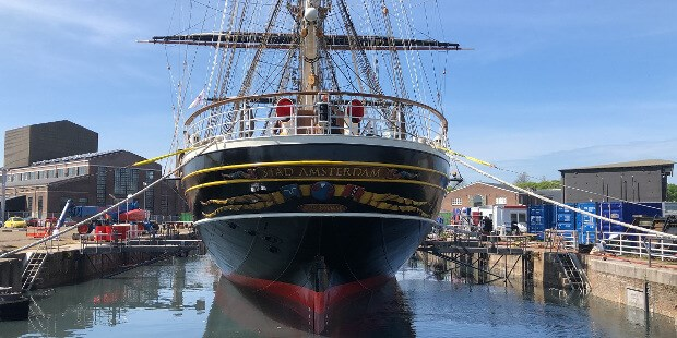 stad amsterdam refloated in damen shipyards den helder preview