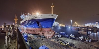 Global Marine Systems Limited's vessel 'Cable Innovator' has undergone extensive work at Damen Shiprepair Dunkerque