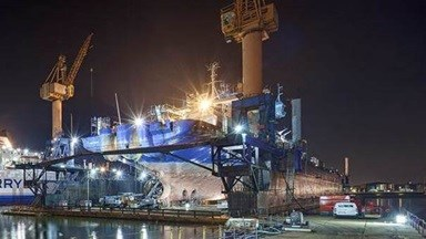 Damen also removed, overhauled and reinstalled the vessel's tail shaft, three tunnel thrusters and an azimuth thruster