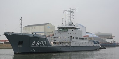 After 12 years of service, the 'HNLMS Snellius' came to the Damen Shiprepair Harlingen for scheduled maintenance with works