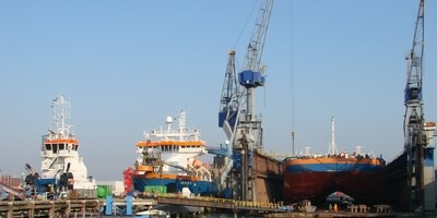 Three vessels owned by Van Oord visited Damen Shiprepair Van Brink Rotterdam where the team carried out a range of work