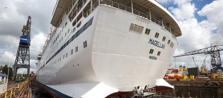 Global Maritime Group appoints Damen Shiprepair Amsterdam to carry out maintenance and repairs to the cruise ship 'Magellan'