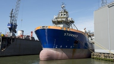 The DP2 installation vessel initially received minor modifications by the yard in 2014 and returned to Damen Shiprepair Rotterdam