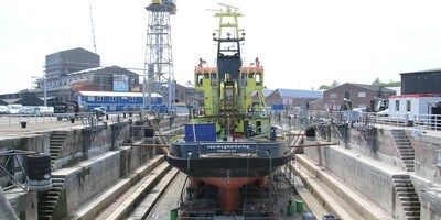 'Terschelling' arrived at Damen Shipyards Den Helder for annual and corrective maintenance
