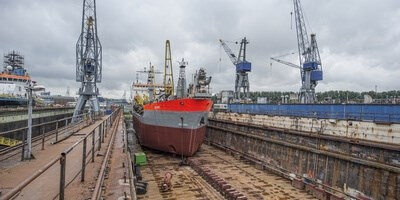 Damen Shiprepair Van Brink Rotterdam completed work to suction dredger 'Seine' within the required short time frame