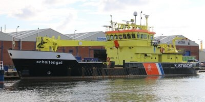 Damen Shipyards Den Helder carries out annual maintenance tasks to 'Schuitengat' and 'Asterias'