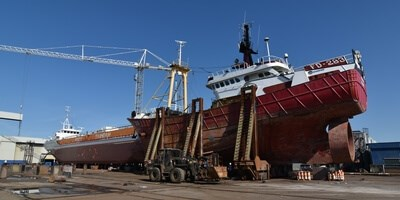 The client was able to have the required work carried out on their vessel at Damen Shiprepair Harlingen