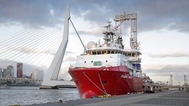 The custom designed DP2 geotechnical drilling vessel visited the yard for conversion and modifications of frames