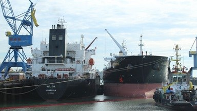 DSV was the only yard in the North Sea area able to accommodate the 'Alia' in fully loaded and non-gas free condition