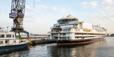 Damen Shiprepair Amsterdam is used as a base for final outfitting to TESO's latest RoRo Ferry 'Texelstroom'