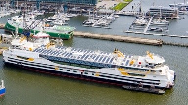 TESO's latest ferry 'Texelstroom' visited Damen Shiprepair Amsterdam (DSAm) for final outfitting and preparation for sea trials