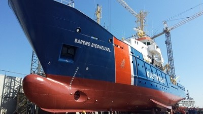 'Barend Biesheuvel' is used by the Dutch Coastguard as a fishery patrol vessel.