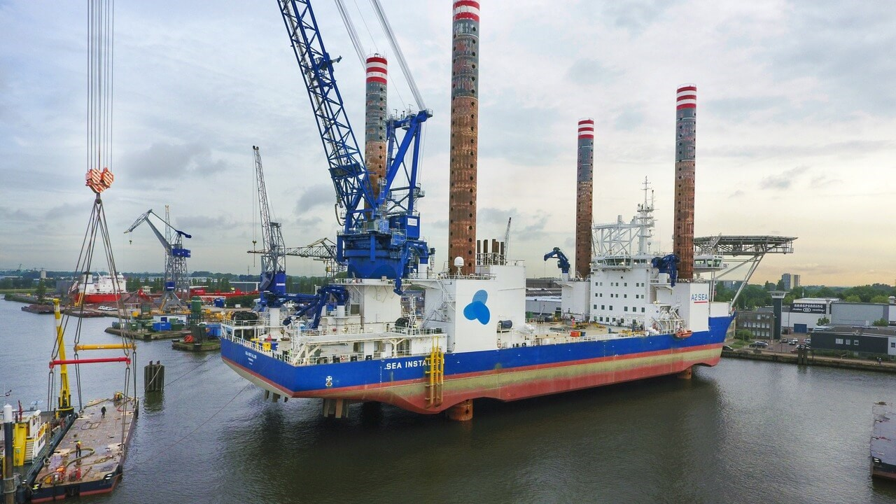 Major modification works on Jack-Up vessel