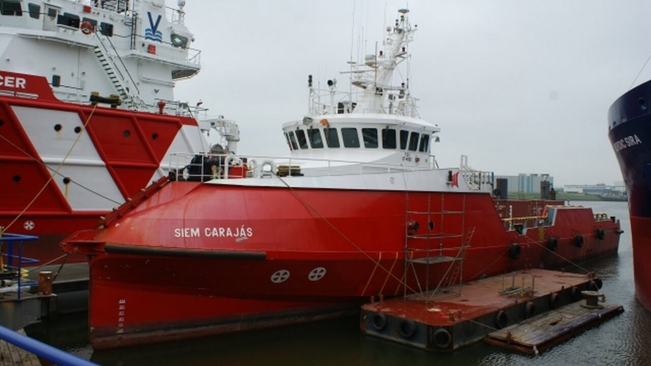 The 2012 built 'Siem Carajas' visited Damen Shiprepair Harlingen for a project to rebuild and refurbish the ship's accommodation together with associated tasks
