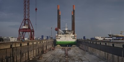 'Thor' undergoes repainting and thruster inspection at Damen Shiprepair Dunkerque