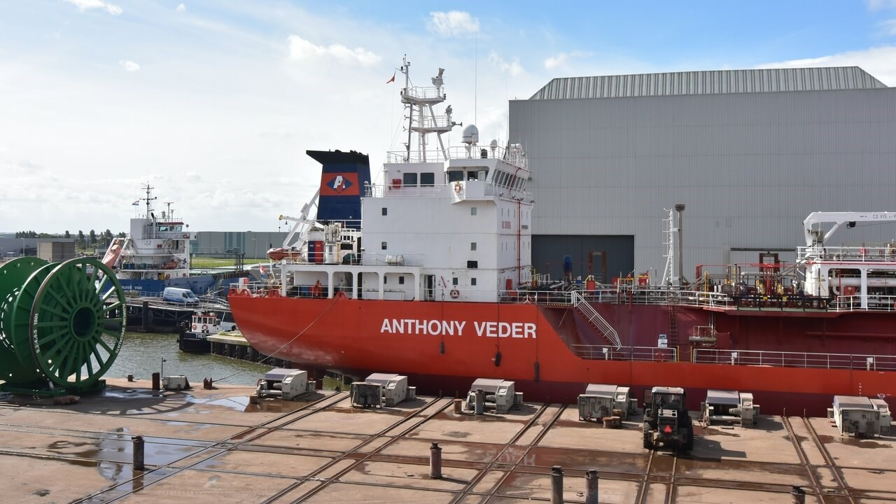 'Coral Medusa's survey at Damen Shiprepair Harlingen.
