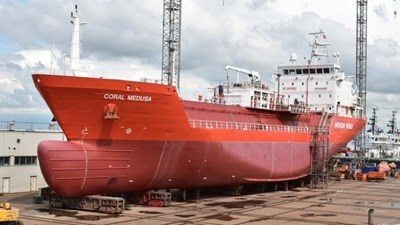 LPG carrier 'Coral Medusa' repairs and survey.