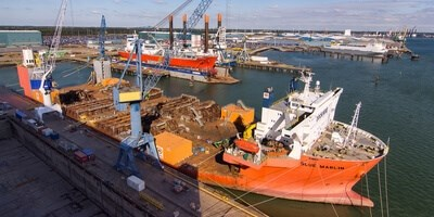 Damen Shiprepair Vlissingen has completed a major project to reconfigure the main deck of the semi-submersible heavy transport vessel 'Blue Marlin'