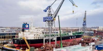 Oil / Chemical tanker 'Miseno' undergoes her first special survey