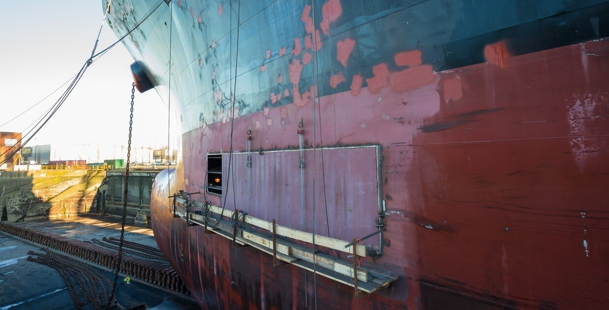 The paintwork of the vessel was thoroughly restored