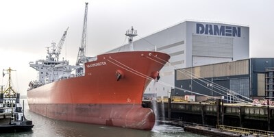 New funnel and scrubber for LPG tanker 'Waasmunster'