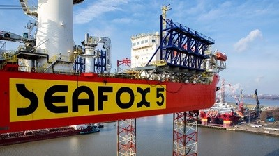 151 metres long and with a breadth of 50 metres, Seafox 5 is the largest vessel in the Seafox fleet and as well as her 1,200 tonne main crane she has accommodation for up to 150 personnel