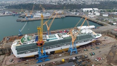 Grand-Class Cruise Ship P&O 'Ventura' Scrubber installation at Damen Shiprepair Brest