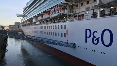 Cruise Ship P&O 'Ventura' maintenance at Damen Shiprepair Brest