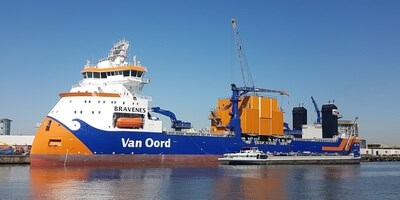 Subsea rock installation vessel 'Bravenes'