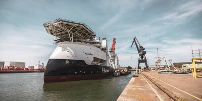 The vessel was the 150-metre 'Fortitude', which was originally ordered by the Toisa Group as the Toisa Patroklos, with the build taking place at Hyundai Heavy Industries.