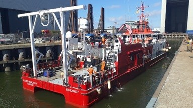 'Fugro Mercator' - a twin-hulled survey vessel operated by Fugro